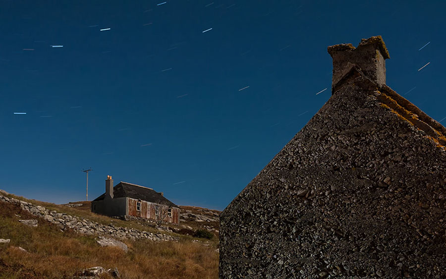 scalpay, night, stars, gable end