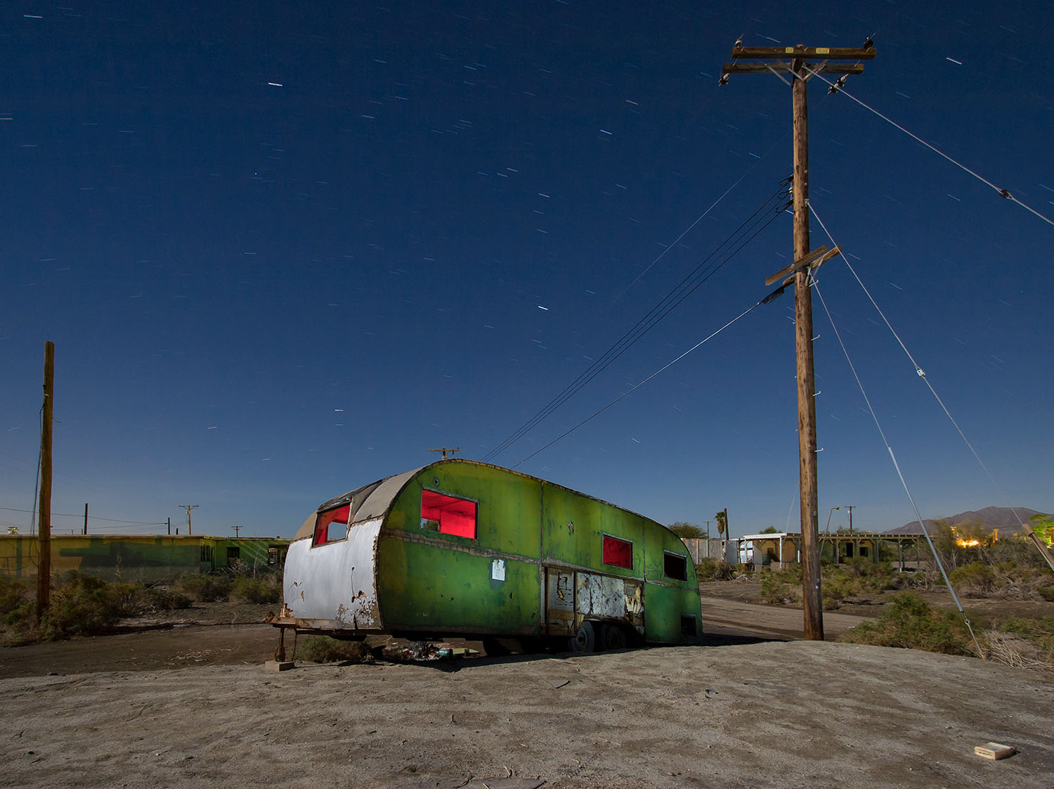 Royal Spartanette, salton sea, caravan, abandoned