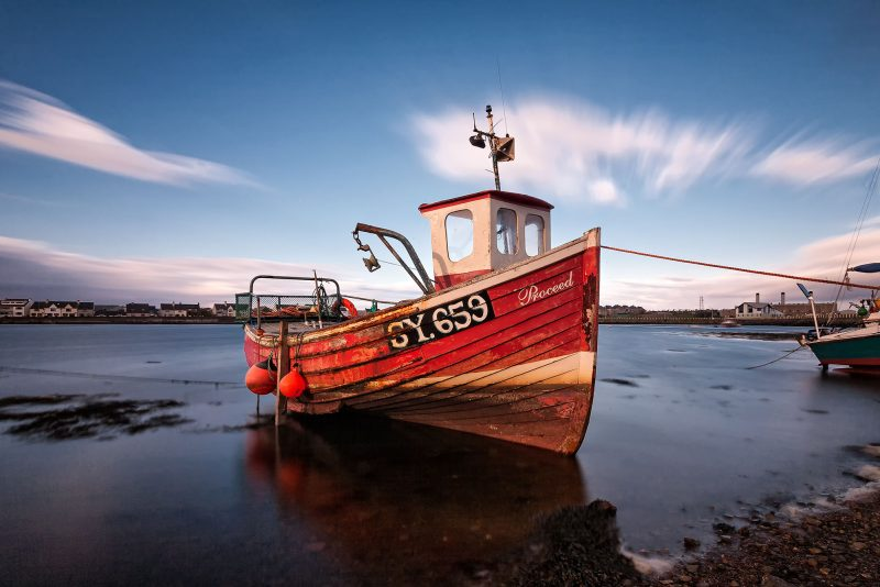 Fishing boat, Goat Island, Stornoway, Isle of Lewis