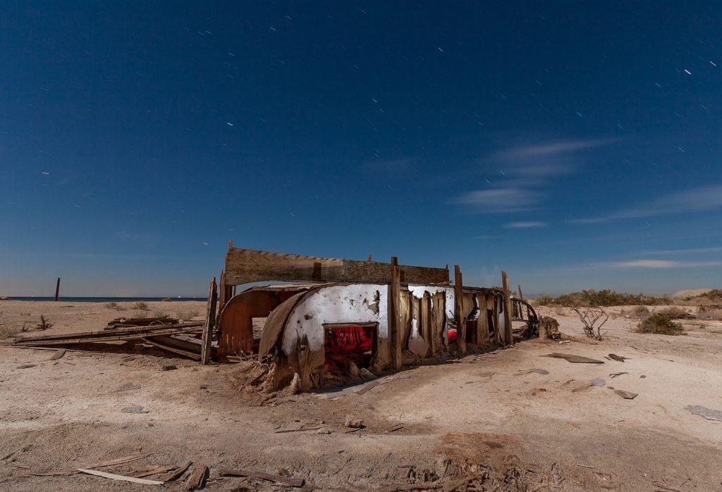 bombay beach, derelict trailer