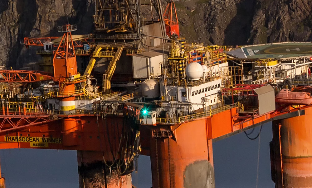 transocean winner, close-up