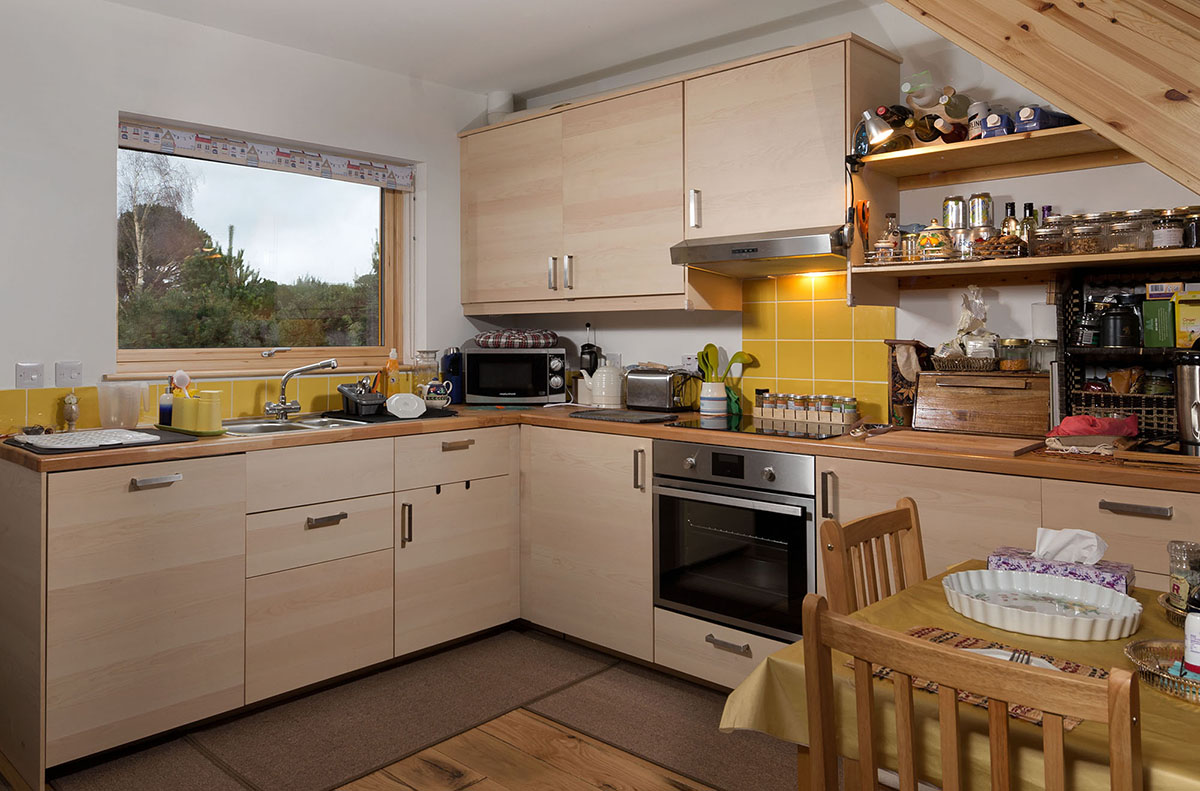Ground floor kitchen, West Whins, Findhorn